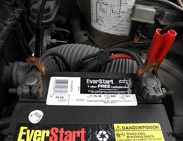 Learn to jump-start a battery
