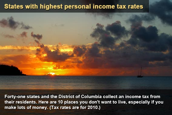 States with highest personal income tax rates