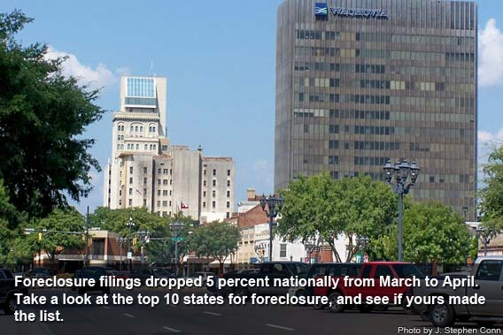 Top foreclosure states