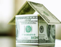 House made of dollar bills