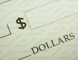 Close up shot of check