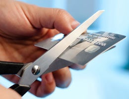 Cutting credit card in half