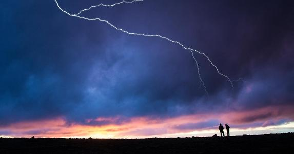 Lightning during a storm | Mark Newman/Getty Images