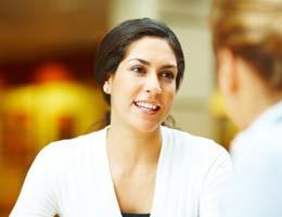 Woman talking to a friend