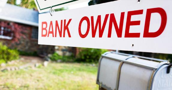 'Bank owned' sign