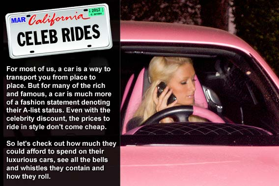 Top celebrities and their pricey rides