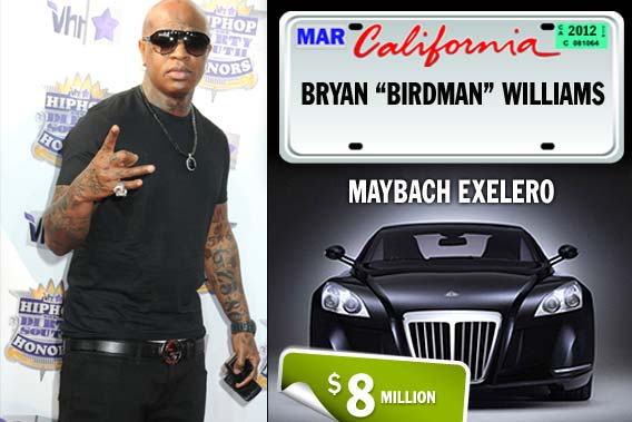 Top celebrities and their pricey rides - Bryan Birdman Williams