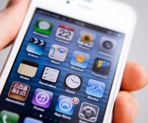 Closeup of Apple iPhone