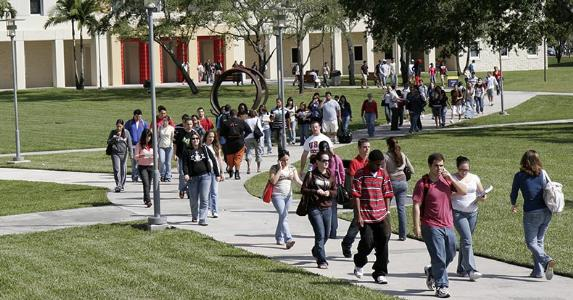 College students walking in campus grounds | Jeff Greenberg/Universal Images Group Editorial/Getty Images