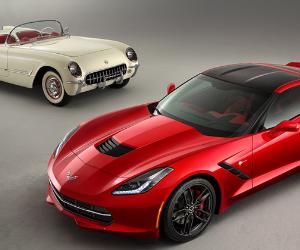 Chevrolet Corvette, old and new models © General Motors