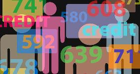 Credit scores with people illustration  Michael D Brown/Shutterstock.com