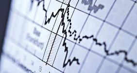 Curves on line graph depicting stock price © gopixa/Shutterstock.com