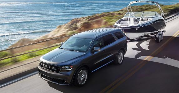 Dodge Durango towing boat