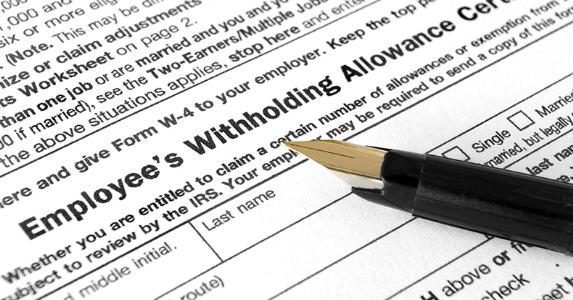 Employee Withholding Allowance Certificate © iStock