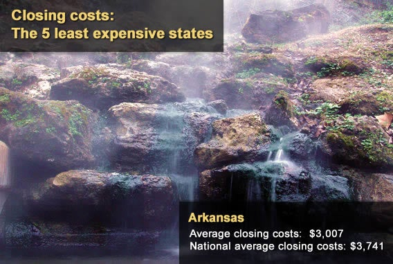 5 least expensive states