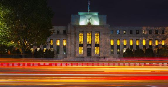 Federal Reserve building at night | Alexandre Deslongchamps/Moment Open/Getty Images