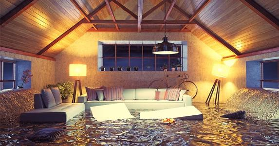 Flooded living room © Zastolskiy Victor/Shutterstock.com