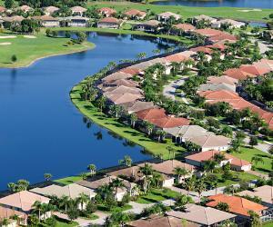 Florida neighborhood, birds' eye view
