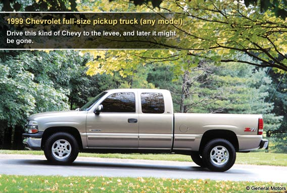 1999 Chevrolet full-size pickup truck (any model)