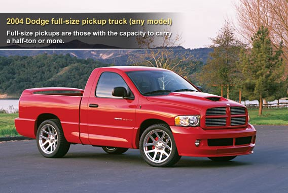 2004 Dodge full-size pickup truck (any model)