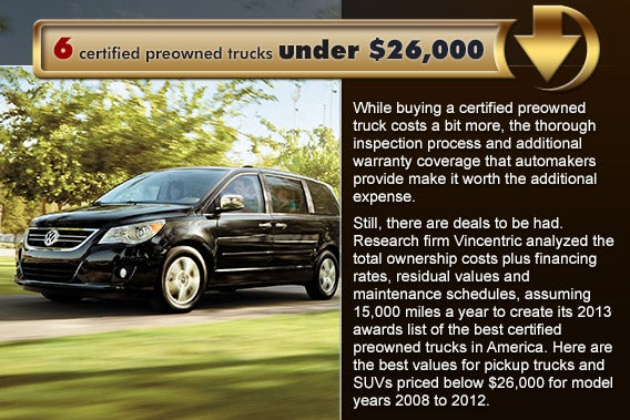 6 certified preowned trucks under $26,000