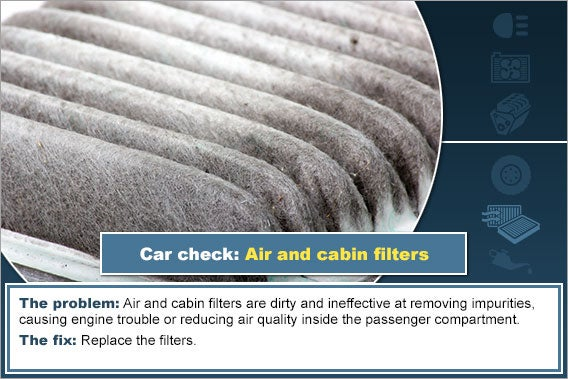 Air and cabin filters © Phiroon/Shutterstock.com