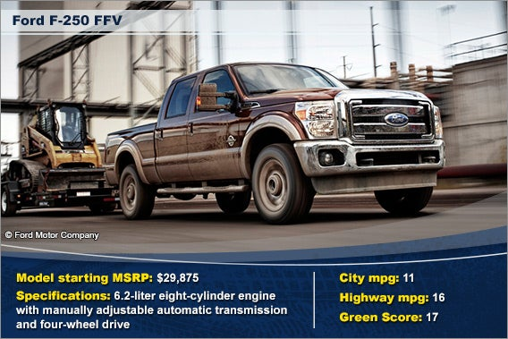 Ford F-250 FFV © Ford Motor Company