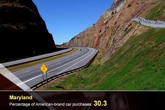 Car overlay: © donvictorio/Shutterstock.com, Maryland: © JoyFera/Shutterstock.com