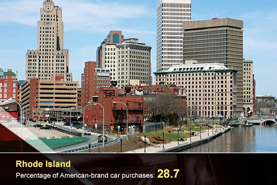 Car overlay: © donvictorio/Shutterstock.com, Rhode Island: © Joy Brown/Shutterstock.com