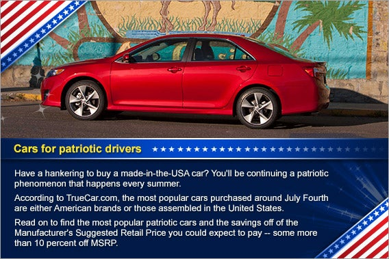 Top cars for patriotic drivers