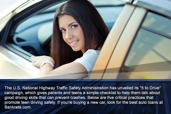 Top 5 teen driving safety tips © Nina Buday/Shutterstock.com, overlay: © SP-Photo/Shutterstock.com