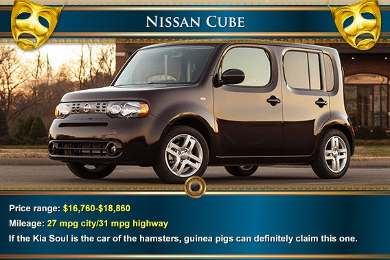 Nissan Cube | Mask: © Natykach Nataliia/Shutterstock.com, decorative elements: © totally out/Shutterstock.com