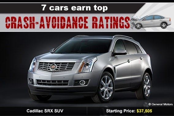 Cadillac SRX SUV © General Motors, car crash: © Skalapendra/Shutterstock.com