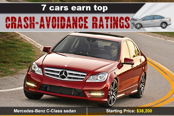 Mercedes-Benz C-Class sedan, car crash: © Skalapendra/Shutterstock.com