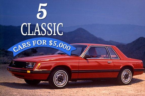 5 classic cars for 5 000. Black Bedroom Furniture Sets. Home Design Ideas