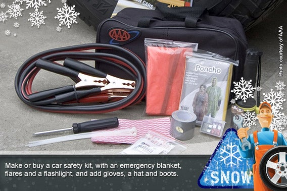 Car safety kit © Photo courtesy of AAA