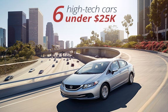 6 cars under $25,000 for tech-savvy buyers © Honda