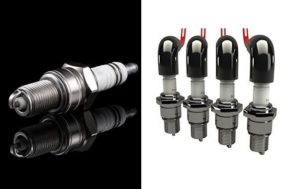 Faulty ignition coil(s) and spark plugs © Pylj/Shutterstock.com