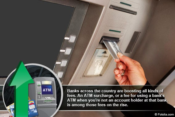 5 cities with the highest ATM fees in 2012