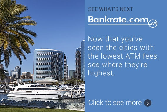 See what's next: Now that you've seen the cities with the lowest ATM fees, see where they're highest. | San Diego California © KENNY TONG/Shutterstock.com