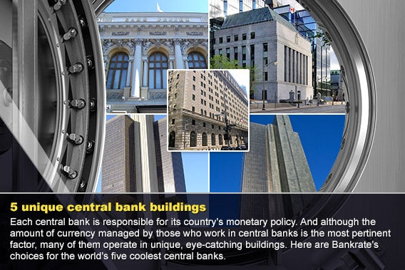 5 unique central bank buildings