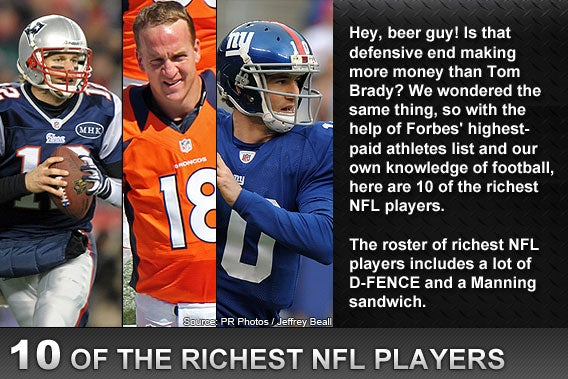 10 of the richest NFL players