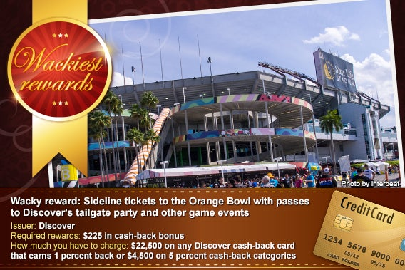 Sideline tickets to the Orange Bowl