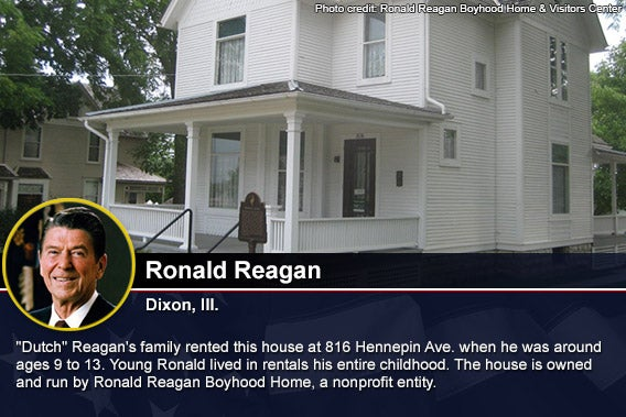 Ronald Reagan Photo credit Ronald Reagan Boyhood Home & Visitors Center