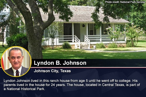 Lyndon B Johnson Photo credit National Park Service
