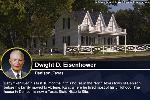 Eisenhower home Photo courtesy of Texas Historical Commission