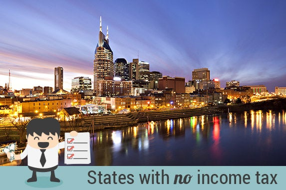 States with no income tax © Judy Kennamer/Shutterstock.com