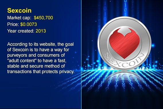 12 cryptocurrency alternatives to Bitcoin: Sexcoin