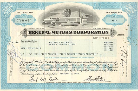 The 10 Coolest Stock Certificates Bankrate Com