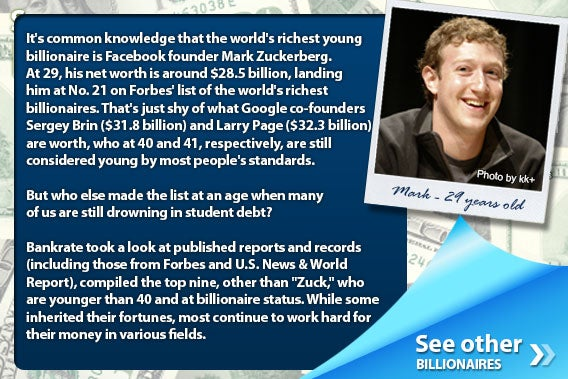The 9 youngest billionaires in the world